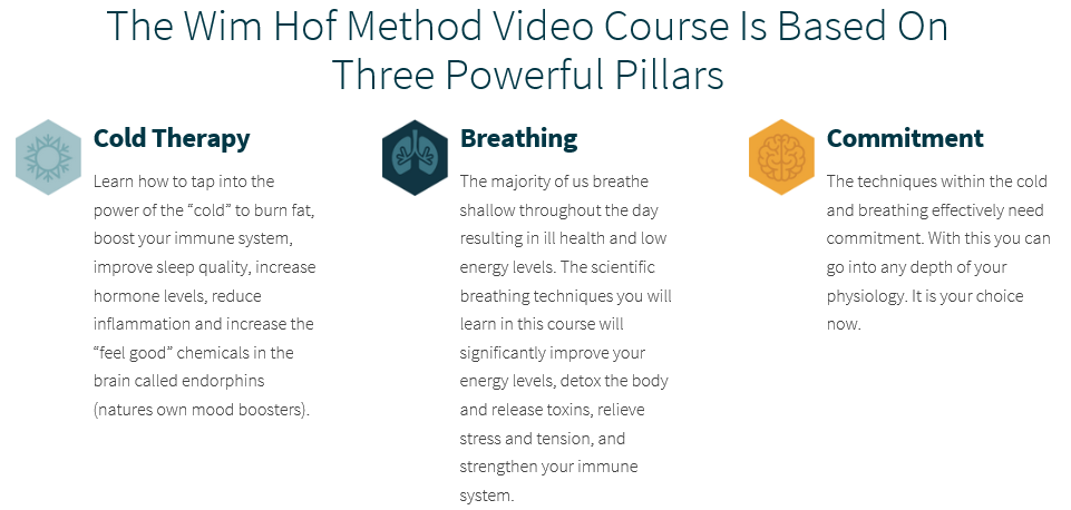 Wim Hof Method Pillars