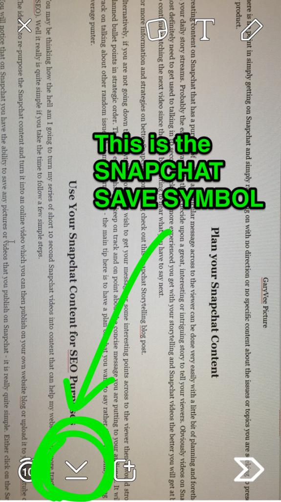 Snapchat Save Symbol
